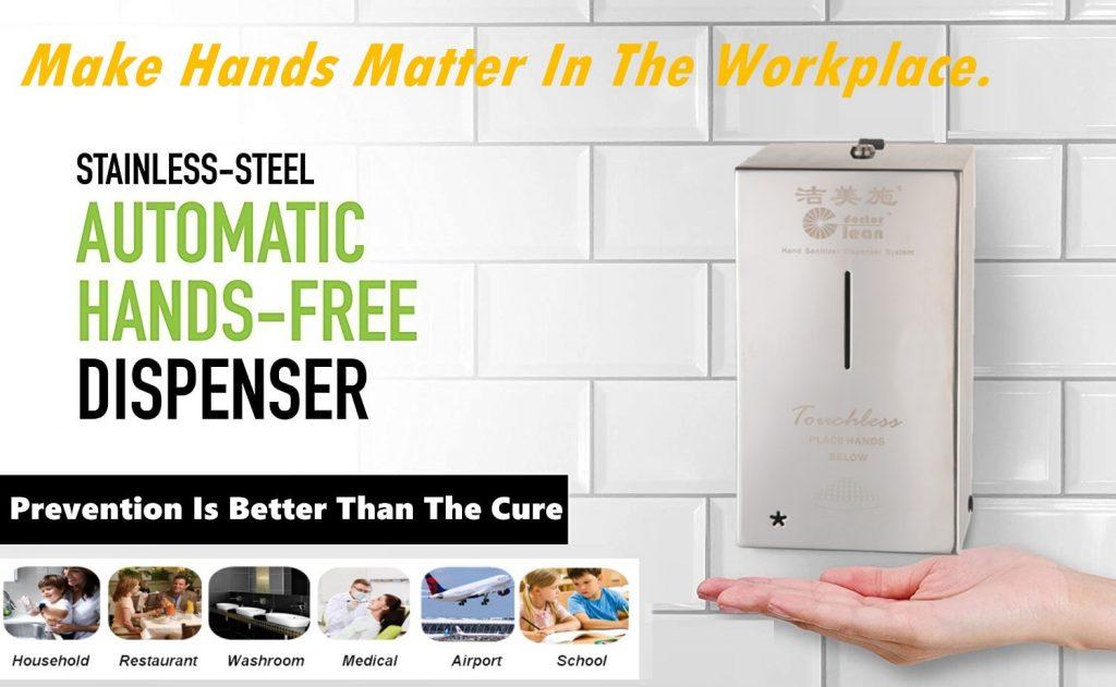 automatic sanitiser dispenser installation site