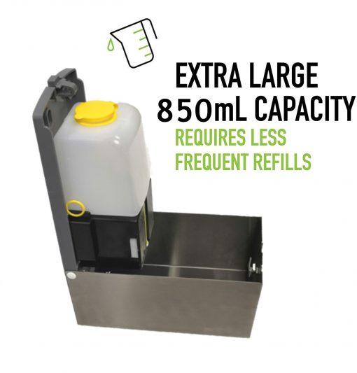 automatic dispenser, refillable bottle type stainless steel dispenser, touch-free sanitizer dispenser