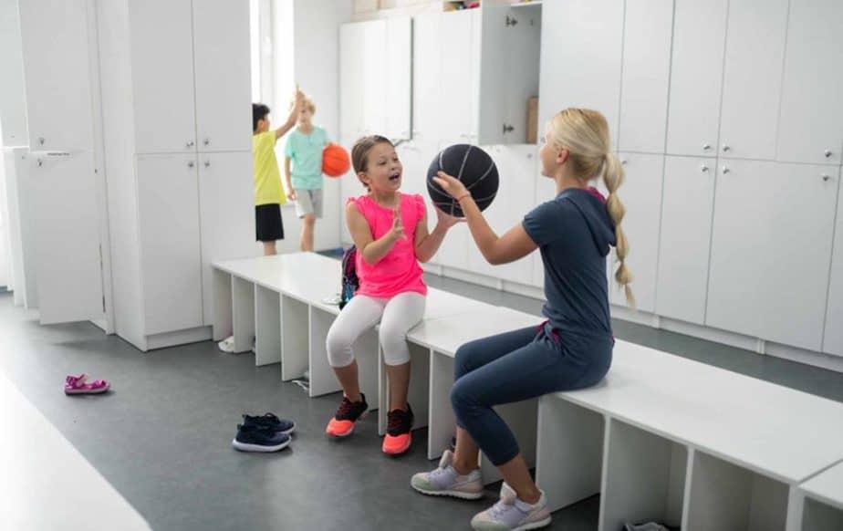 School gyms, showering