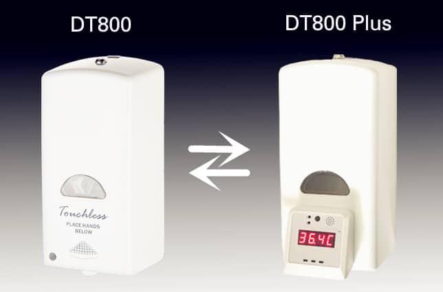 Temperature measurable sanitizer dispenser