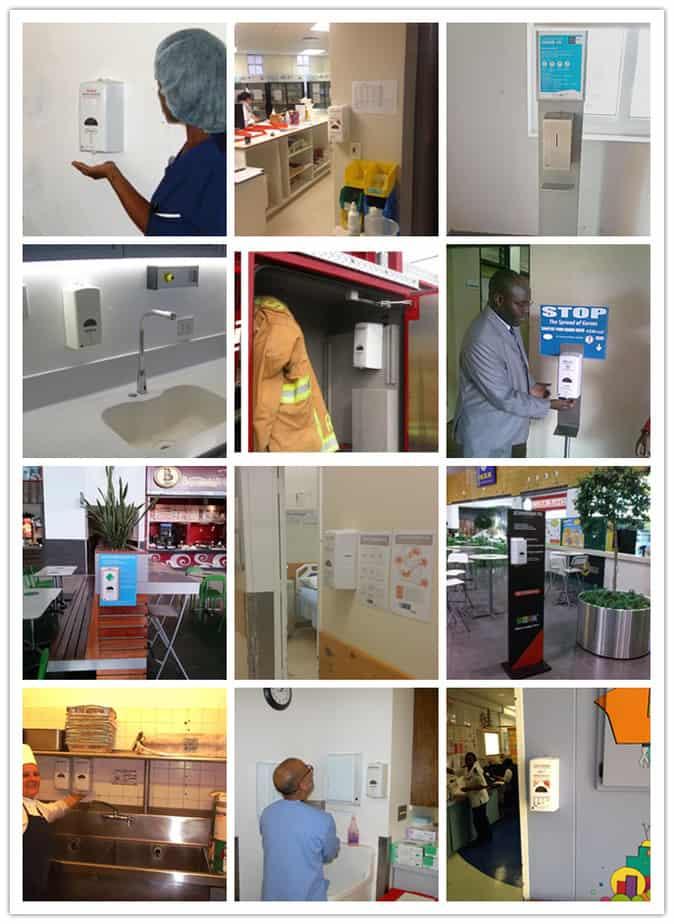 automatic sanitizer dispenser installation site