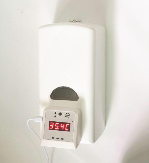 temperature measurable hand sanitizer dispenser
