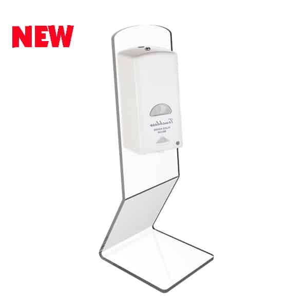 Table stand for automatic sanitizer dispenser
